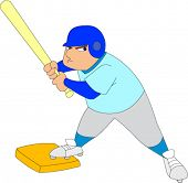 Baseball player up at bat looking determined