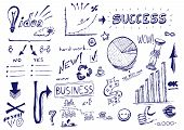 Hand drawn vector illustration: Business success