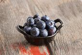 Healthy Ripe Autumn Blueberries