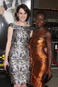 LOS ANGELES - FEB 24:  Michelle Dockery, Lupita Nyong'o at the