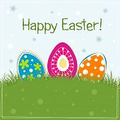 Template Easter greeting card, vector illustration