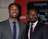LOS ANGELES - FEB 25:  Michael B. Jordan, David Oyelowo at the 2nd Annual ICON MANN Power Dinner at