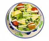 Avocado salad. Colombian cuisine.