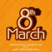 International Happy Women's Day celebration concept with stylish text on yellow background.