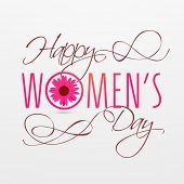 International Happy Women's Day celebrations concept with stylish calligraphic text.