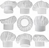 pic of pastry chef  - Collection of Chef Hat isolated on white background - JPG