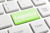 Green logistics key on keyboard