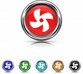 Fan Icon - Six Colors Vector Set