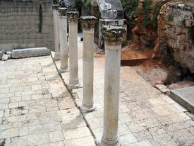 stock photo of cardo  - Ancient Roman Cardo street - JPG