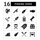 Set Icons Of Fishing