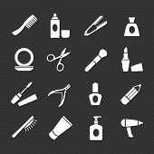 Set Icons Of Beauty And Cosmetics