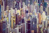 Hong Kong, China office buildings.