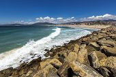 stock photo of tarifa  - Beach landscape in the city of Tarifa, Spain.