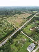 Forests And Roads From Above