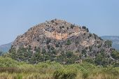 image of dalyan  - A Hill in Dalyan Town Koycegiz Turkey - JPG