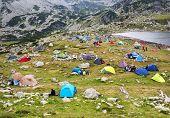 Camping in National Park Retezat, Romania, Europe