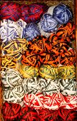 bright color variegated yarn skeins