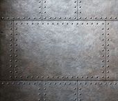 picture of ironclad  - metal armor plates background - JPG