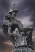 picture of metal sculpture  - Devil sculpture in madrid - JPG