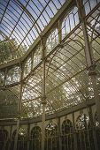 Crystal palace in the retiro park, madrid