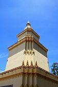 stupa with sky background