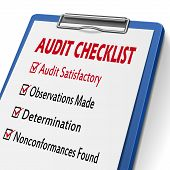 Audit Checklist Clipboard