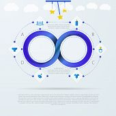 Vector infographic for baby things store with Mobius stripe