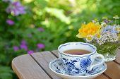 tea break in garden