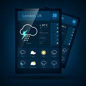 Weather informer. Vector illustration
