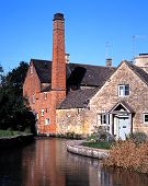 picture of slaughter  - The Old Mill on the River Eye Lower Slaughter Gloucestershire Cotswolds England UK Western Europe - JPG