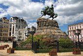picture of hetman  - The monument to Bogdan Khmelnitsky - JPG