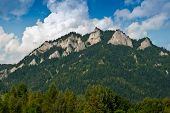 picture of pieniny  - Three Crowns in Pieniny mountains on the polish - JPG