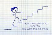 Conceptual Design Representing Steps To Reach Success
