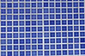 Blue Tile Wall Of Square.