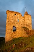 Tarbert Castle at dawn