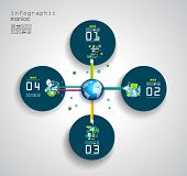Flat Style Infographic UI Icons to use for your business project, marketing promotion, mobile advert