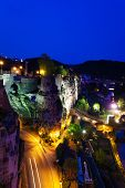Dent Creuse at night in Luxembourg