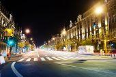 Avenue de la Liberte view at night in Luxembourg
