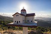 Traditional Greek Little Church Near The Road