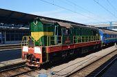 KIEV, UKRAINE -MAY 25, 2014:Central Railway Station .May 25, 2014 Kiev, Ukraine