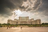 Bucharest, Romania - August 08: Palace Of Parliament On August, 2014 In Bucharest, Romania, Visited