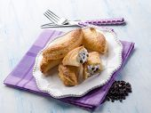 french pastry filled with ricotta and chocolate drops