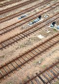 landscape of railroad tracks