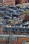 View of buildings and rooftops in Boston America neighborhood
