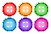 Illustration of different color buttons
