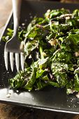 image of sauteed  - Homemade Healthy Sauteed Swiss Chard with Garlic and Cheese