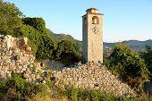Clock Tower in Citadel of Stari Bar, Montenegro