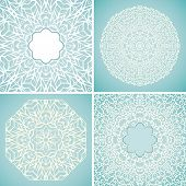 Set of 4 round lace backgrounds