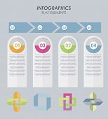 Abstract elements paper Infographic in flat design