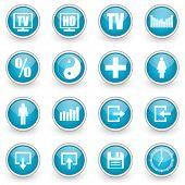 glossy circle web icons set